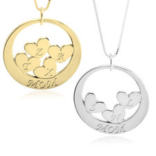 Custom Mom Necklace With Children's Initials