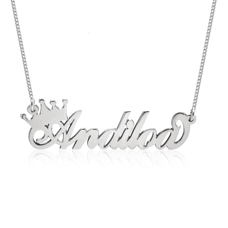Queen Crown Name Necklace