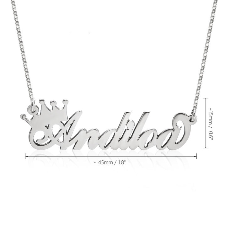 Queen Crown Name Necklace - Information
