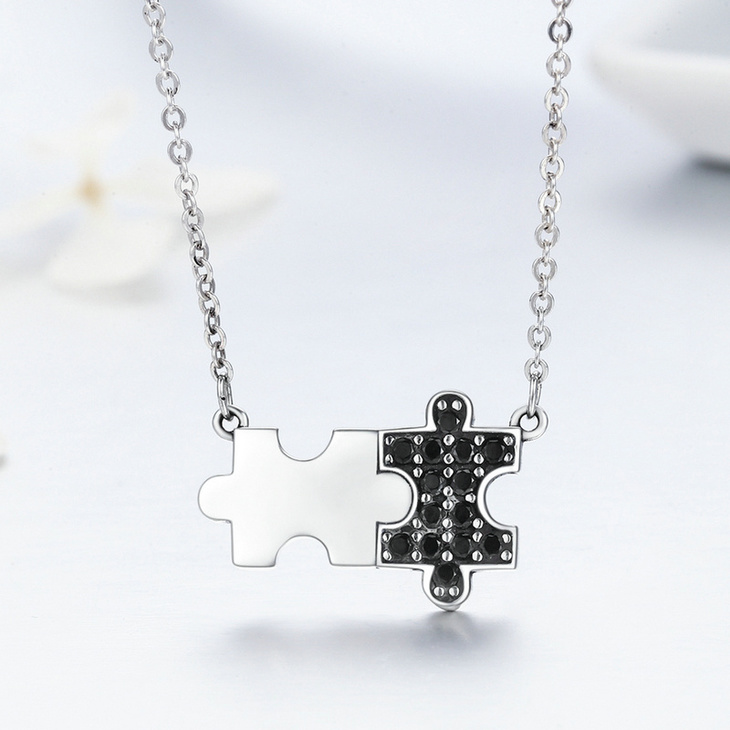 Puzzle Piece Necklace  - Picture 2