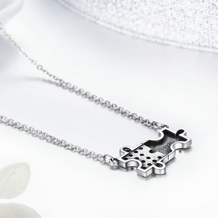 Puzzle Piece Necklace  - Picture 4