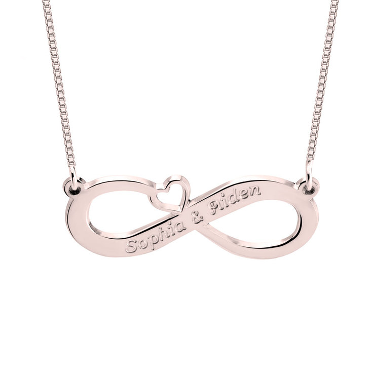 Two Name Infinity Necklace