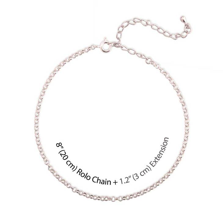 Initial And Birthstone Anklet  - Picture 3