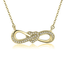 Infinity Necklace With Heart And Zirconia