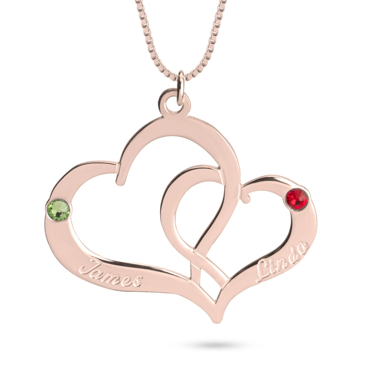 Two Heart Personalized Necklace