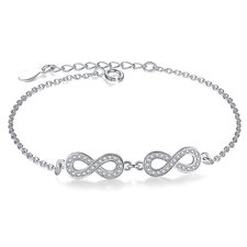 Double Infinity Symbol Bracelet