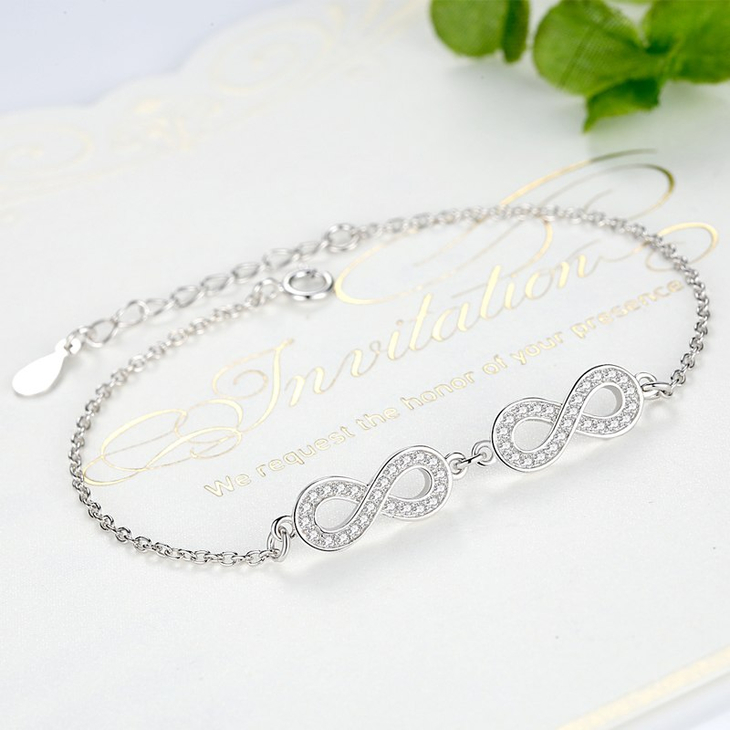 Double Infinity Symbol Bracelet - Picture 2