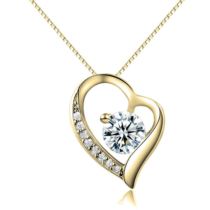Heart Necklace With Zirconia