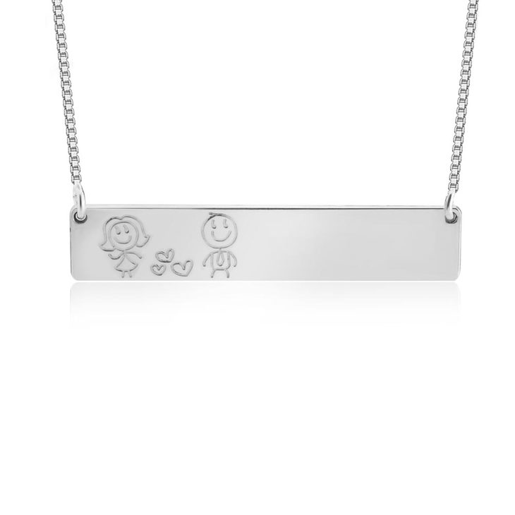 Family Bar Necklace  - Picture 2