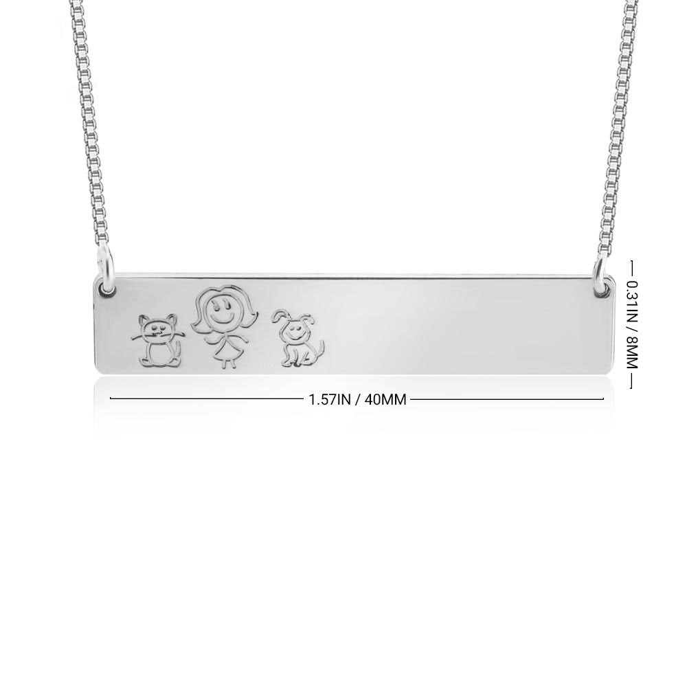 Family Bar Necklace - Information