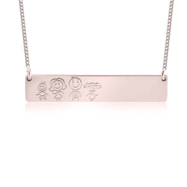 Family Bar Necklace - Picture 3