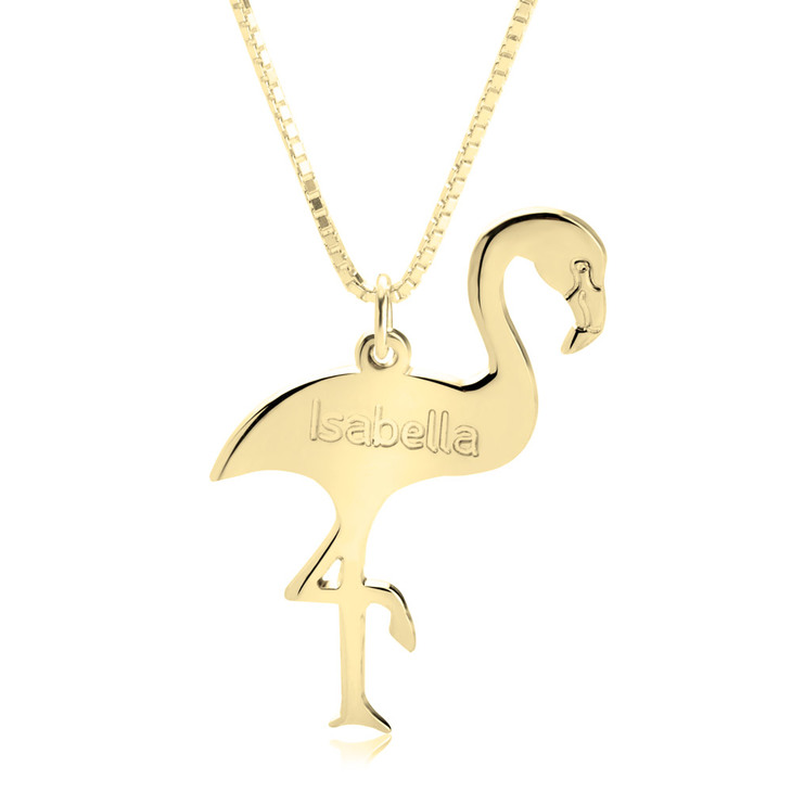 Personalized Flamingo Necklace