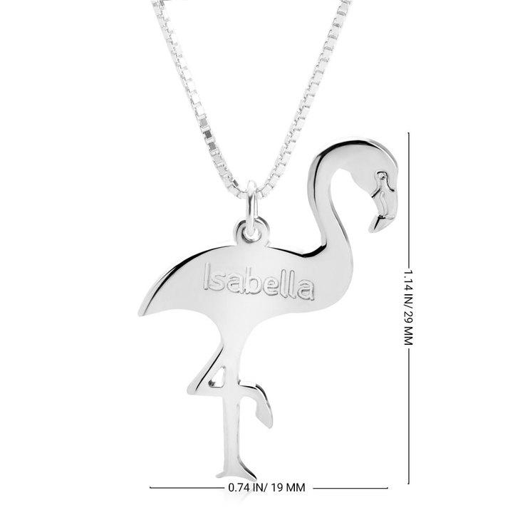 Personalized Flamingo Necklace - Information