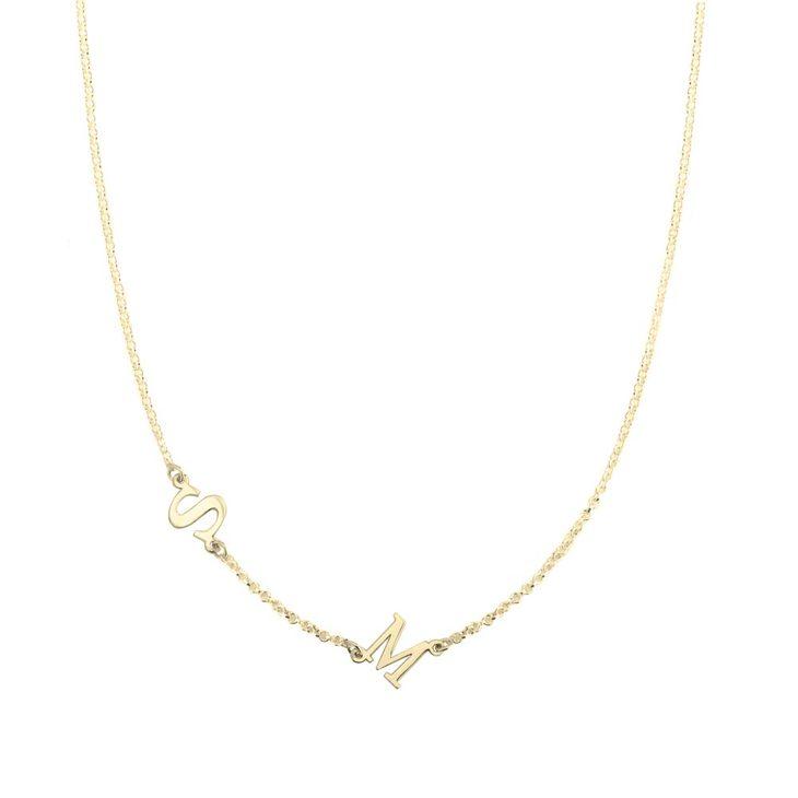 Sideways Letter Necklace
