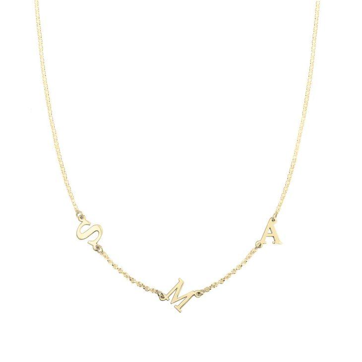 Sideways Letter Necklace  - Picture 2