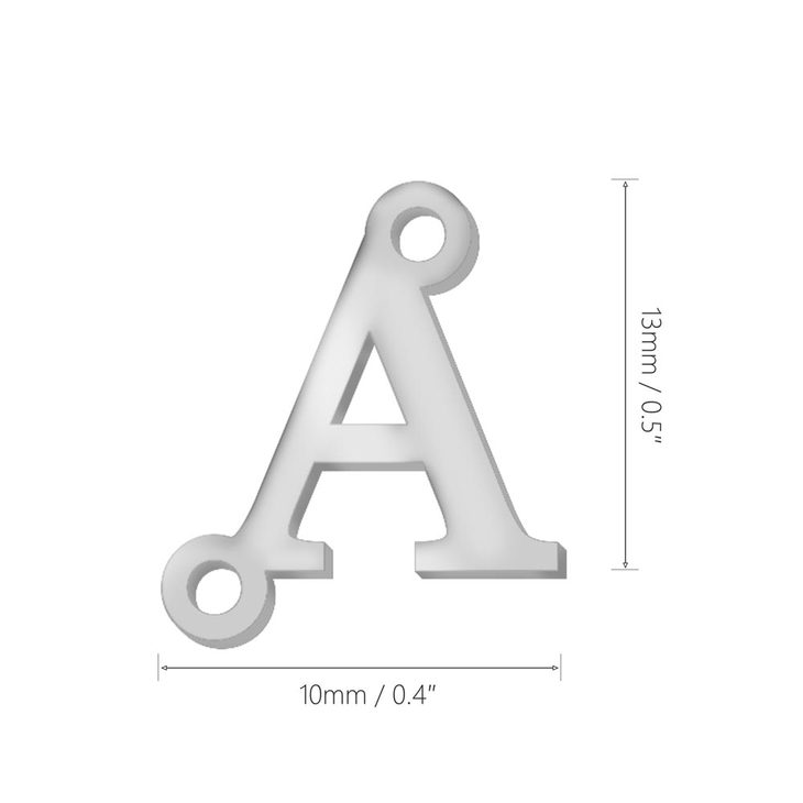 Sideways Initial Letter Necklace - Information