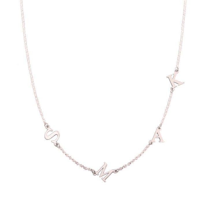 Sideways Letter Necklace  - Picture 3