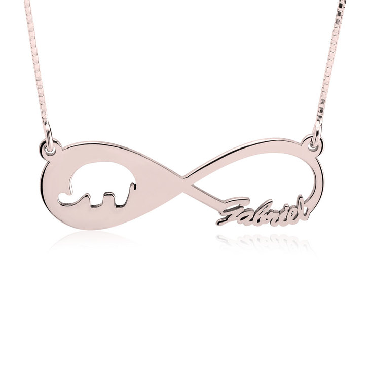 Custom Infinity Necklace  - Picture 2