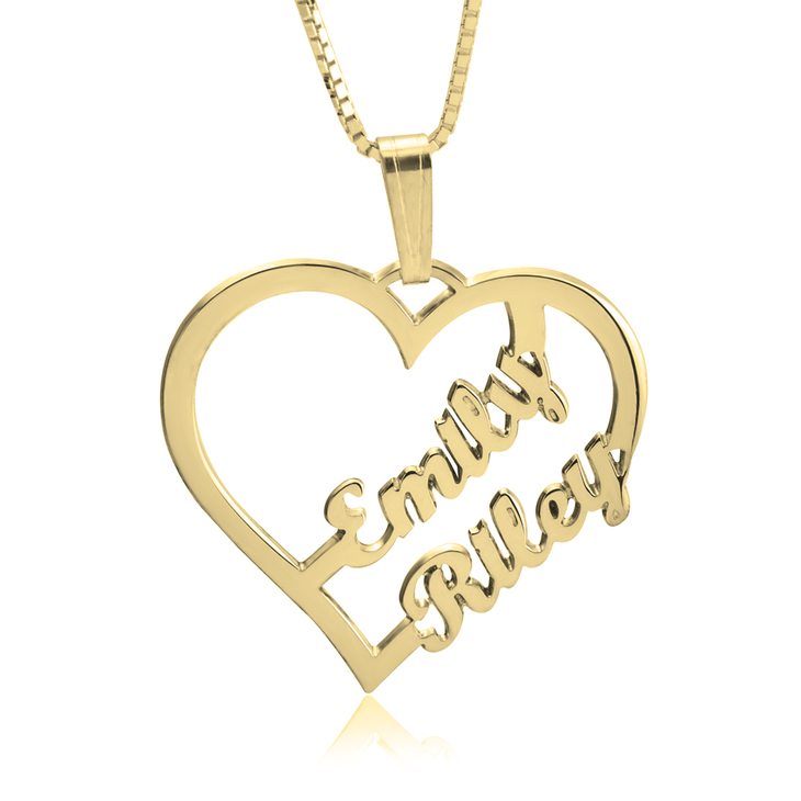 Couple Heart Necklace