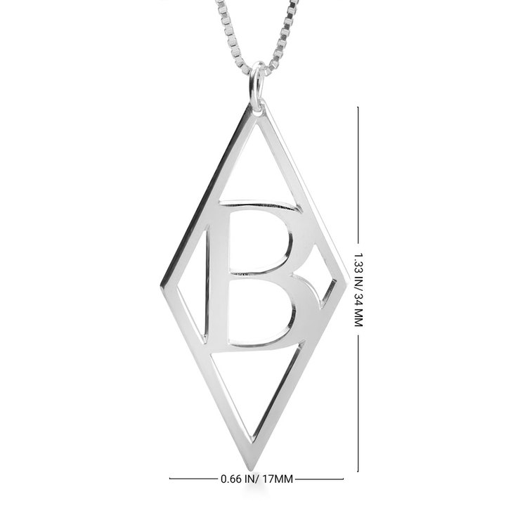 Initial Pendant Necklace - Information