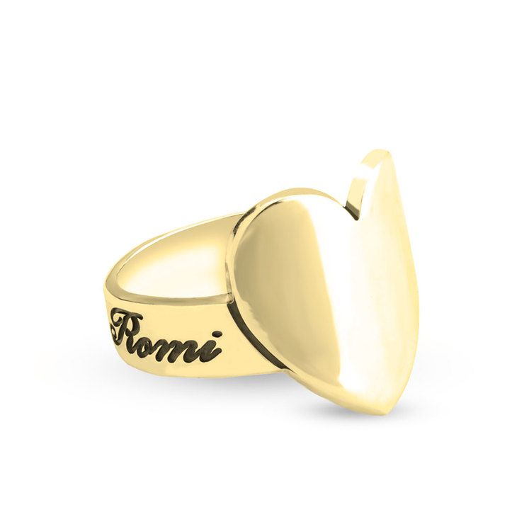 Engraved Heart Ring  - Picture 2