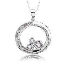 Circles With Zirconia Necklace