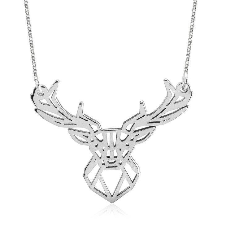 Deer Head Necklace
