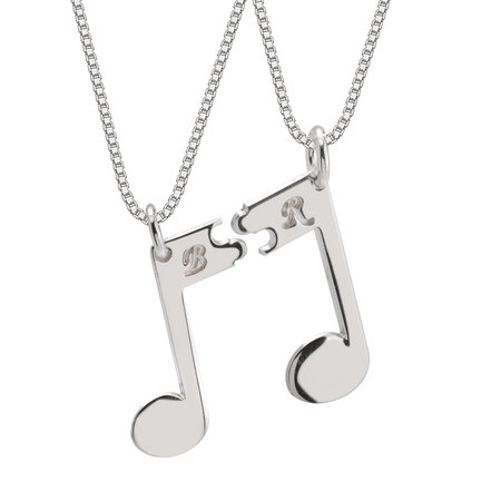 Couple Musical Note Necklace