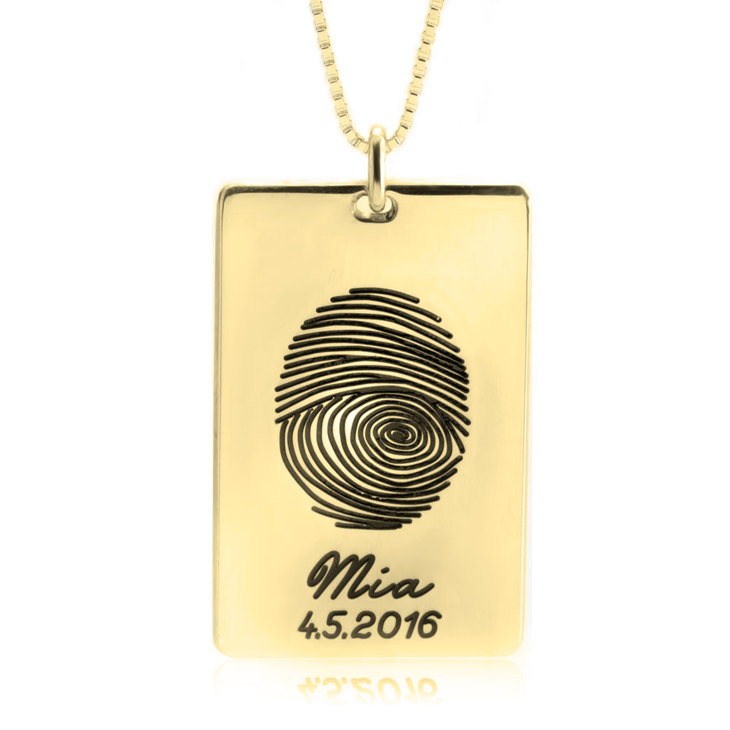Personalized Thumbprint Necklace