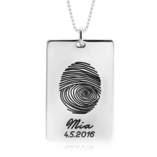 Personalised Thumbprint Necklace