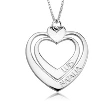 Engraved Heart Necklace