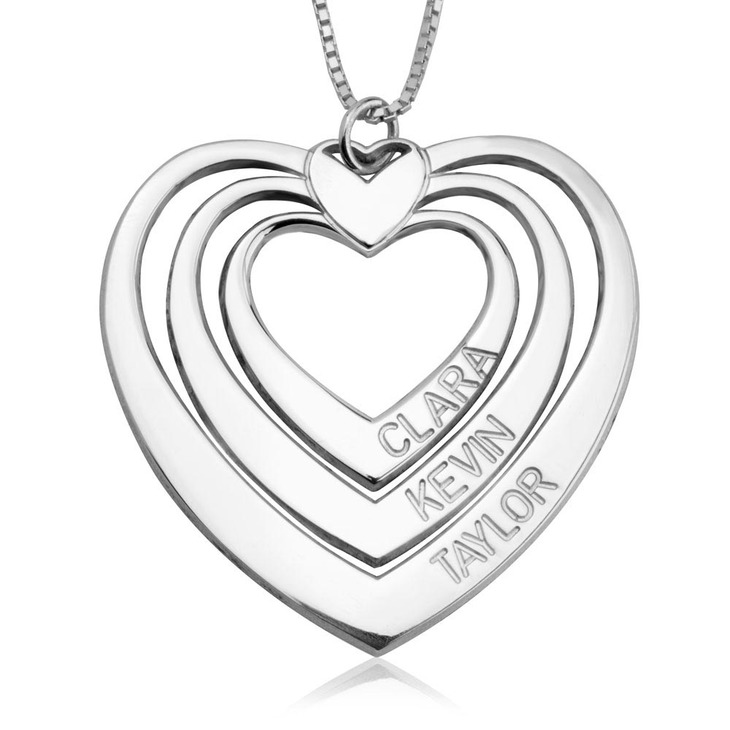 Engraved Heart Necklace  - Picture 2