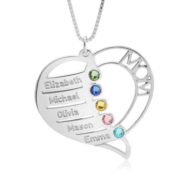 Personalized Necklace for Mom - Picture 2