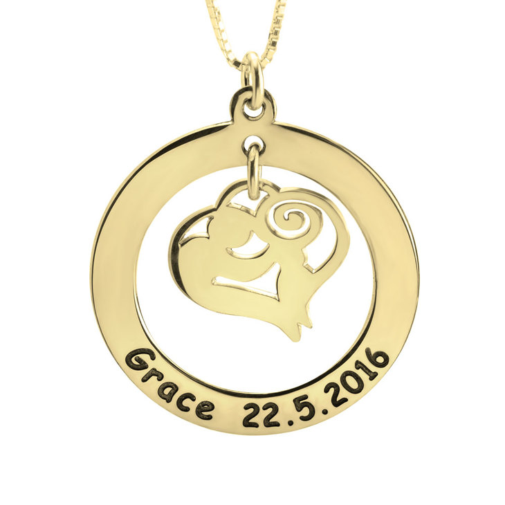 Mother and Child Necklace