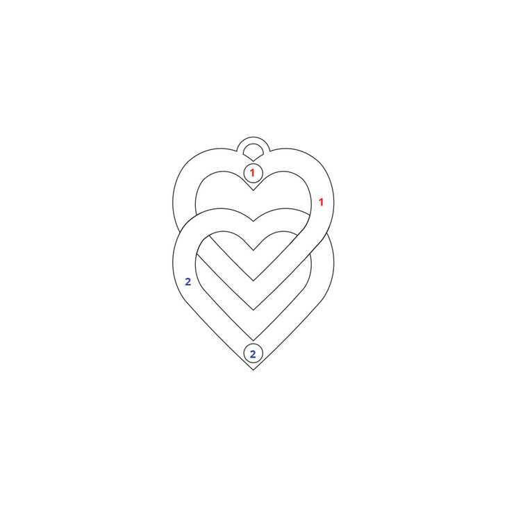 Collar de Doble Corazón Para Pareja - Information