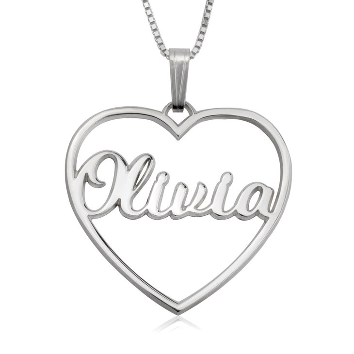 Personalized Open Heart Necklace