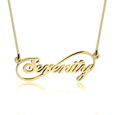 Personalised Infinity Name Necklace