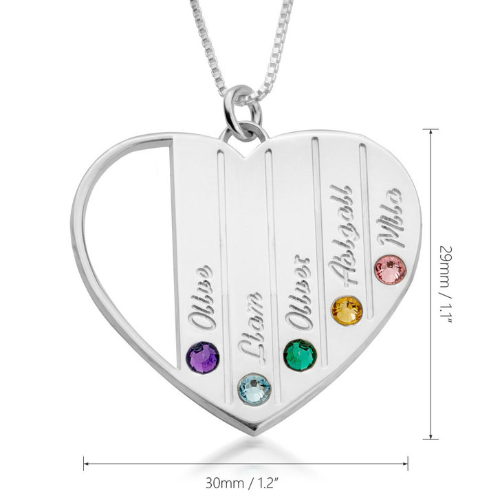 Mothers Birthstone Necklace - Information