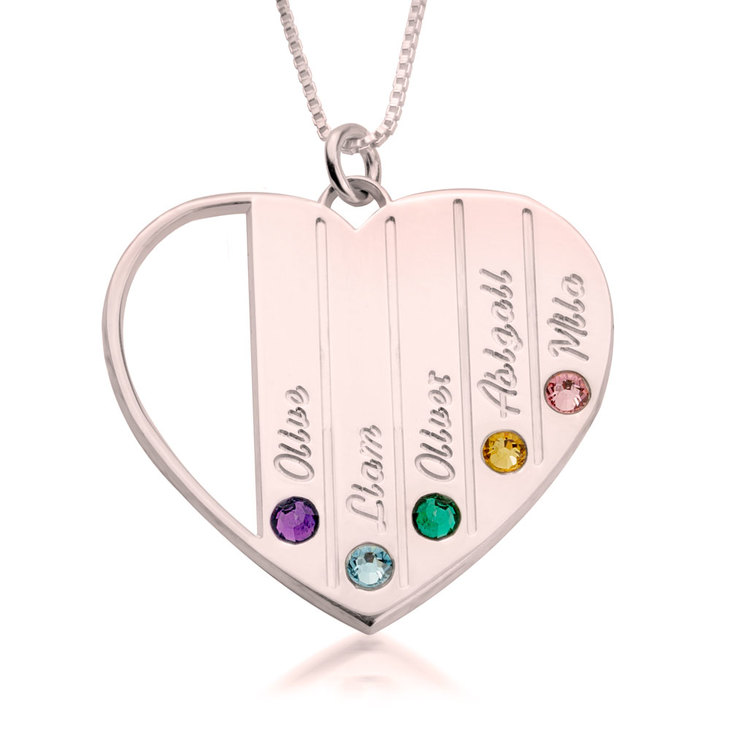 Mothers Birthstone Necklace - Picture 2