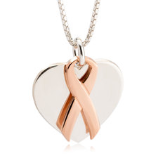 Ribbon With Heart Necklace