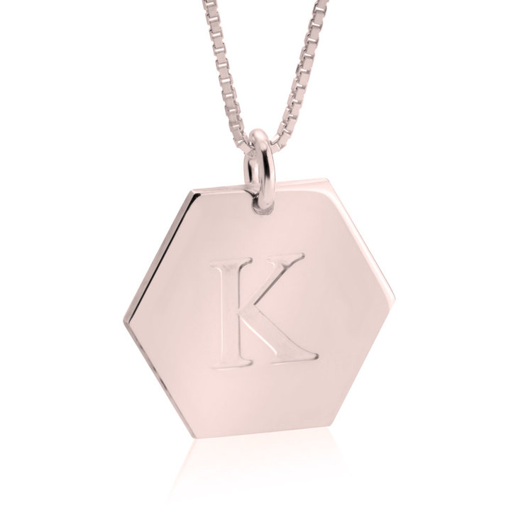 Initial Pendant Necklace - Picture 6