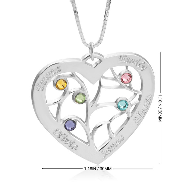 Personalised Heart Necklace - Information
