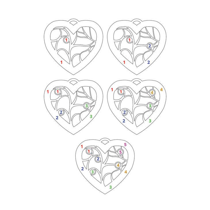Collar Con Dije De Corazón con Piedras de Nacimiento - Information