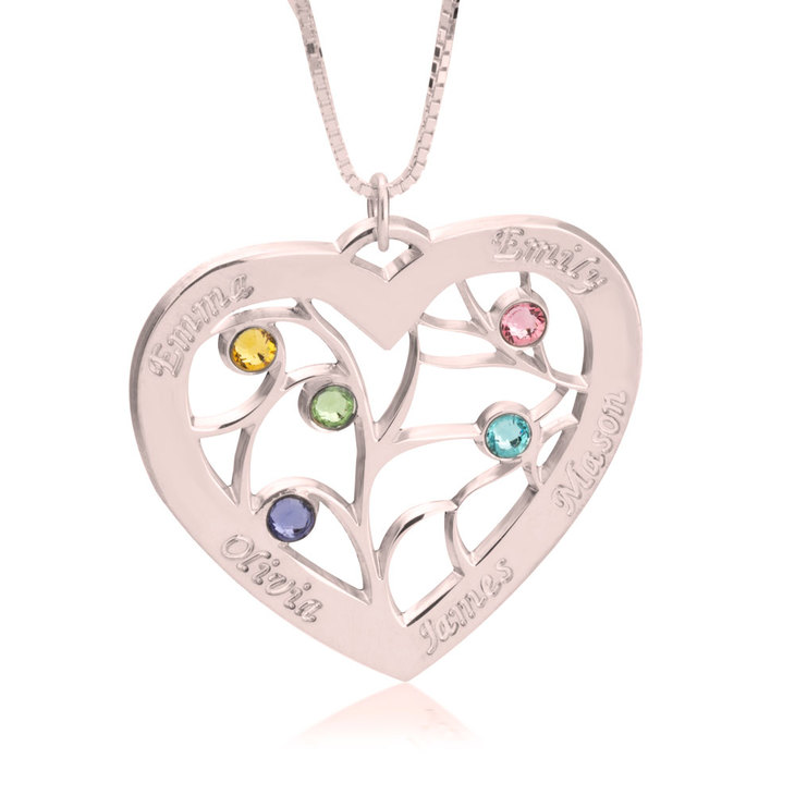 Personalized Heart Necklace - Picture 2