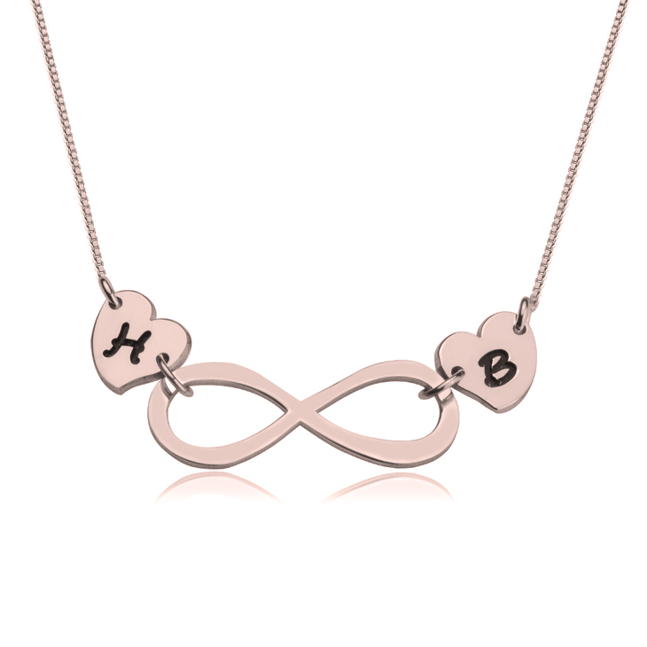 Infinity Love Necklace With Initials