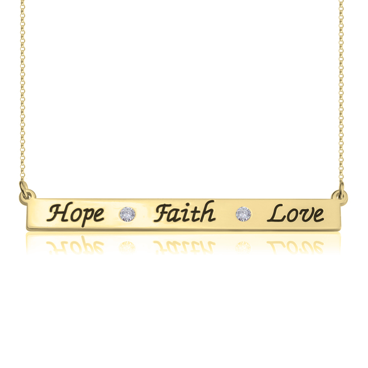 Collier Faith Hope Love