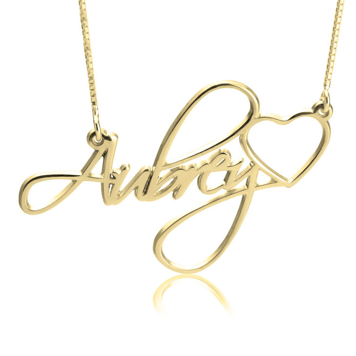 Custom Name Necklace With Heart