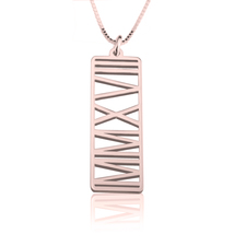 Personalised Roman Numeral Necklace