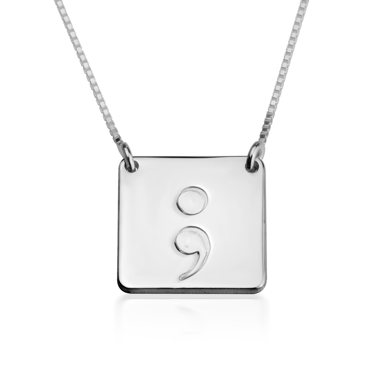 Square Semicolon Necklace