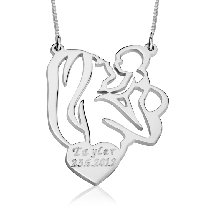 Mothers Necklace With Children's Name